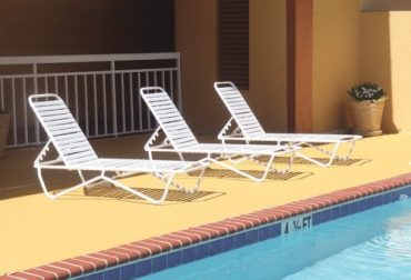 Aruba Strap Armless Chaise Lounge - Stackable