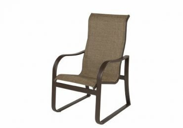Corsica Sling High Back Dining Arm Chair