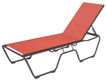 Country Club Sling Armless Chaise Lounge Bolt-thru - Stackable
