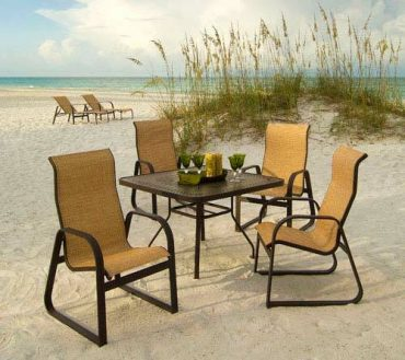 Cabo Sling High Back Dining Arm Chair